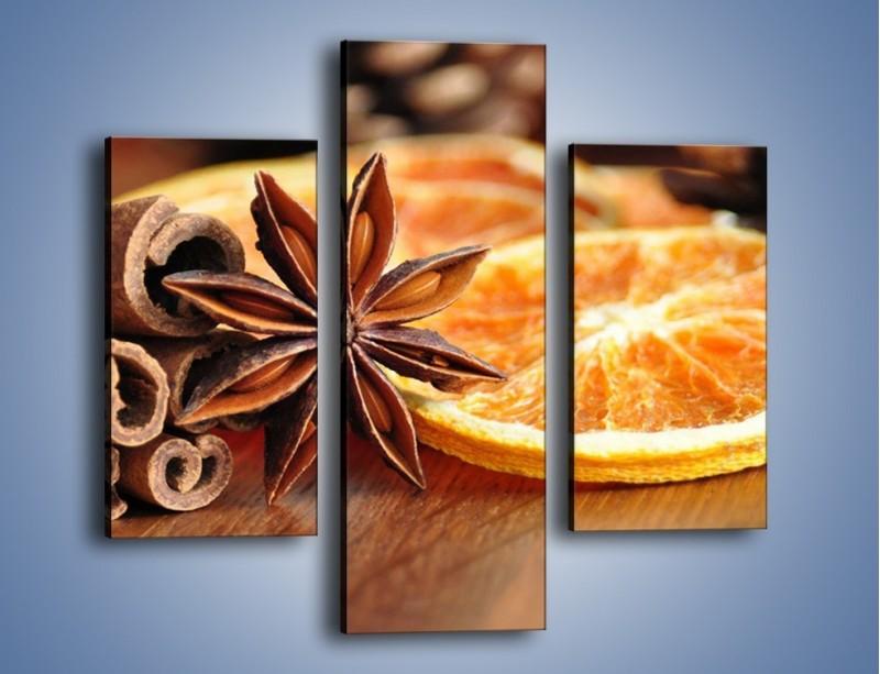 Obraz na płótnie – Pomarańcza z dodatkami – trzyczęściowy JN357W3