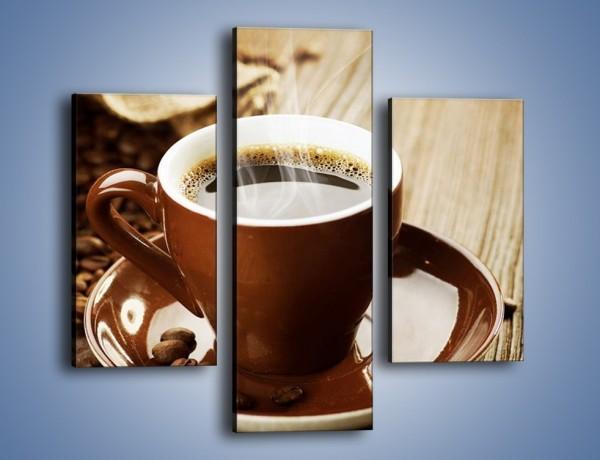 Obraz na płótnie – Kawowe dzień dobry – trzyczęściowy JN359W3