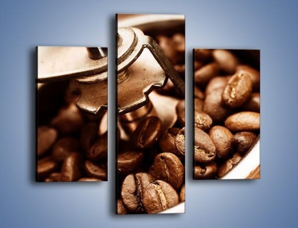 Obraz na płótnie – Kawa w młynku – trzyczęściowy JN361W3