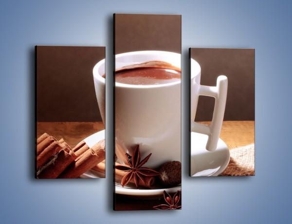 Obraz na płótnie – Gorąca czekolada z cynamonem – trzyczęściowy JN362W3