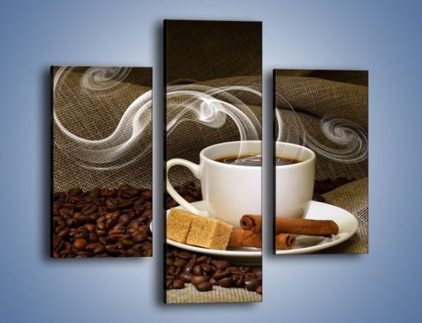Obraz na płótnie – Zapach kawy niesiony wiatrem – trzyczęściowy JN365W3