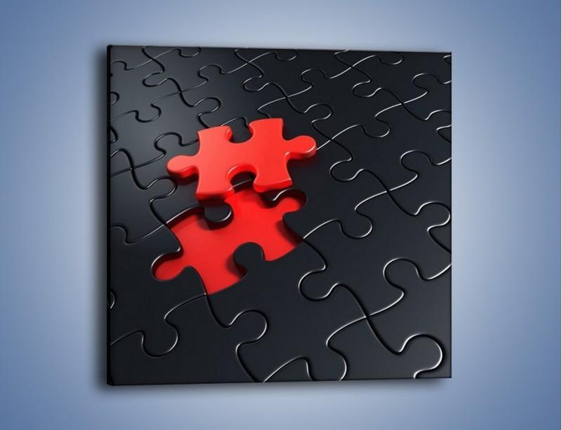 Obraz na płótnie – Brakujący element – jednoczęściowy kwadratowy GR453