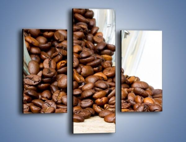 Obraz na płótnie – Ziarna kawy w słoiku – trzyczęściowy JN368W3