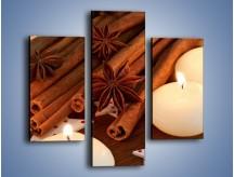 Obraz na płótnie – Cynamonowe szaleństwa przy świecach – trzyczęściowy JN371W3