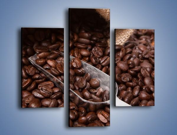 Obraz na płótnie – Worek pełen kawy – trzyczęściowy JN372W3