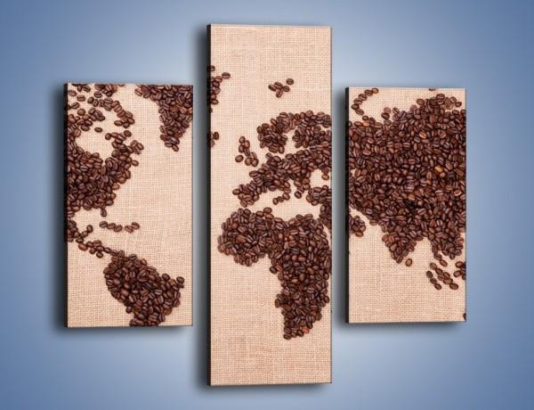 Obraz na płótnie – Kawowy świat – trzyczęściowy JN373W3