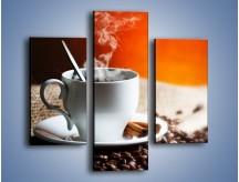 Obraz na płótnie – Aromatyczny zapach kawy – trzyczęściowy JN374W3