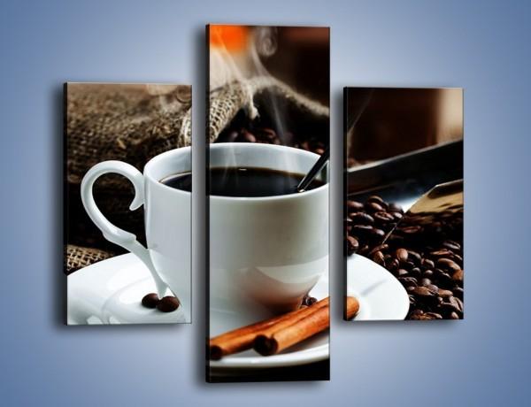 Obraz na płótnie – Kawowa rozkosz w zaciszu domowym – trzyczęściowy JN375W3
