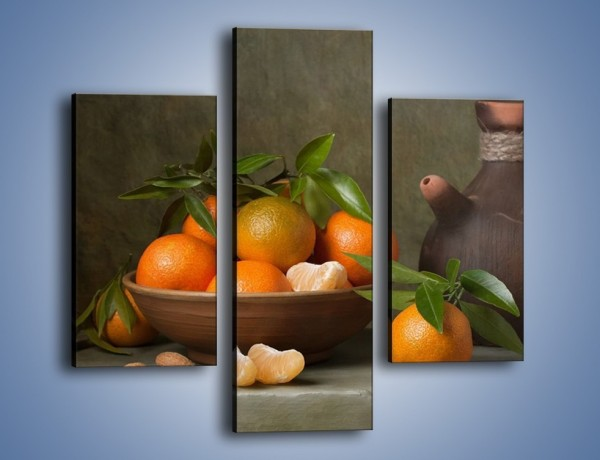 Obraz na płótnie – Miska nazrywanych pomarańczy – trzyczęściowy JN381W3