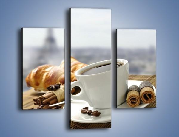 Obraz na płótnie – Francuski poranek z kawą – trzyczęściowy JN383W3