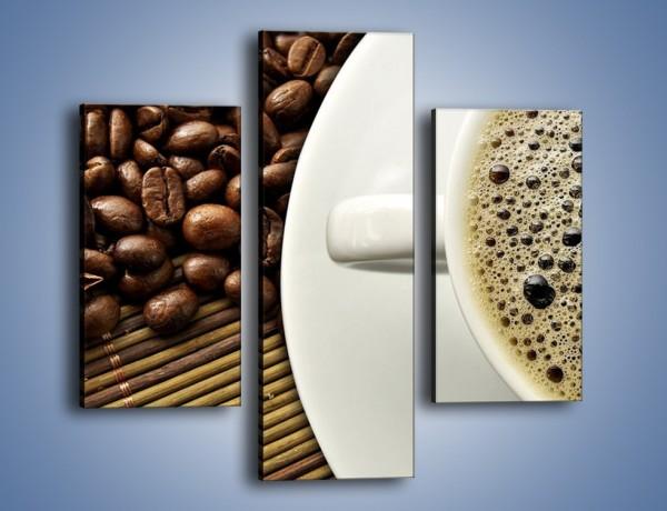 Obraz na płótnie – Zaparzona kawa z pianką – trzyczęściowy JN384W3