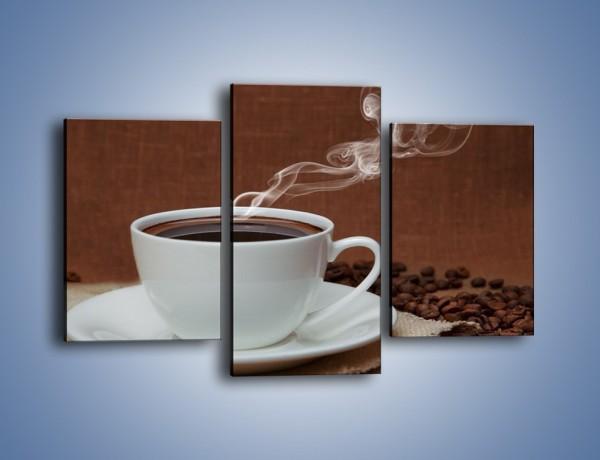 Obraz na płótnie – Gorąca czarna kawa – trzyczęściowy JN386W3