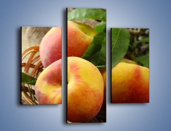 Obraz na płótnie – Dojrzałe jabłka w koszu – trzyczęściowy JN390W3