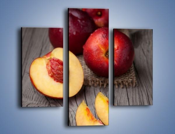 Obraz na płótnie – Soczyste kawałki brzoskwiń – trzyczęściowy JN400W3