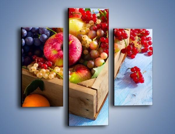 Obraz na płótnie – Skrzynka z owocami – trzyczęściowy JN405W3