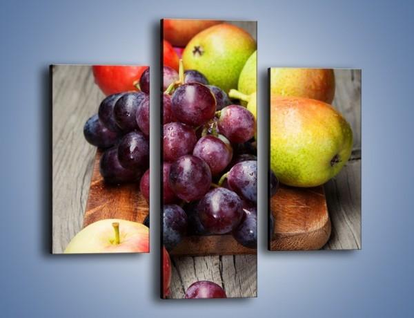 Obraz na płótnie – Kuchenna deska z owocami – trzyczęściowy JN407W3