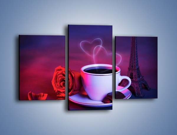 Obraz na płótnie – Kawa dla zakochanych – trzyczęściowy JN411W3