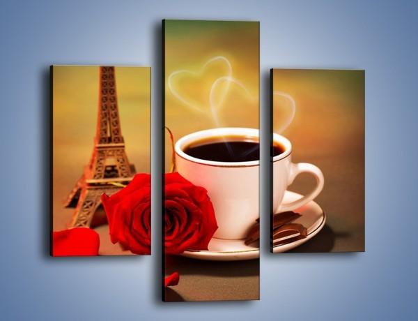 Obraz na płótnie – Kawa pełna miłości – trzyczęściowy JN412W3