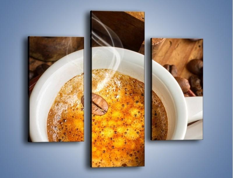 Obraz na płótnie – Ziarna zatopione w kawie – trzyczęściowy JN416W3