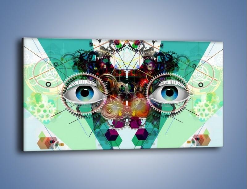 Obraz na płótnie – Mechanicznie otwarte oczy – jednoczęściowy panoramiczny GR504