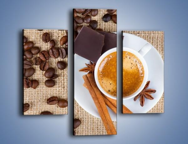 Obraz na płótnie – Kawa i czekolada – trzyczęściowy JN420W3