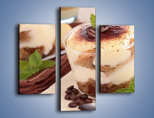 Obraz na płótnie – Mini kawowe desery – trzyczęściowy JN426W3