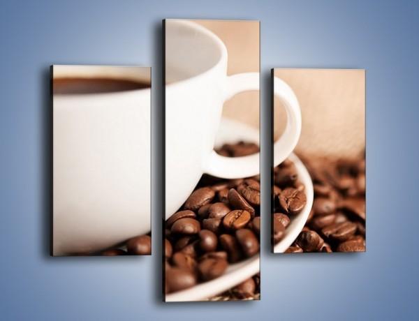 Obraz na płótnie – Kawa z bliska – trzyczęściowy JN431W3