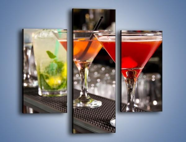 Obraz na płótnie – Drinki na barze – trzyczęściowy JN432W3