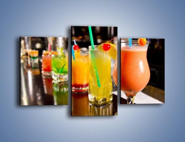Obraz na płótnie – Barmańskie drinki – trzyczęściowy JN433W3