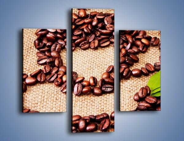 Obraz na płótnie – Wyraźny znak w kawie – trzyczęściowy JN444W3