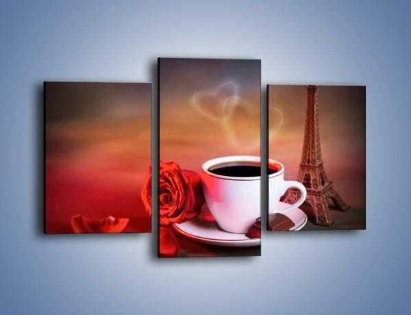 Obraz na płótnie – Kawa w centrum francji – trzyczęściowy JN450W3