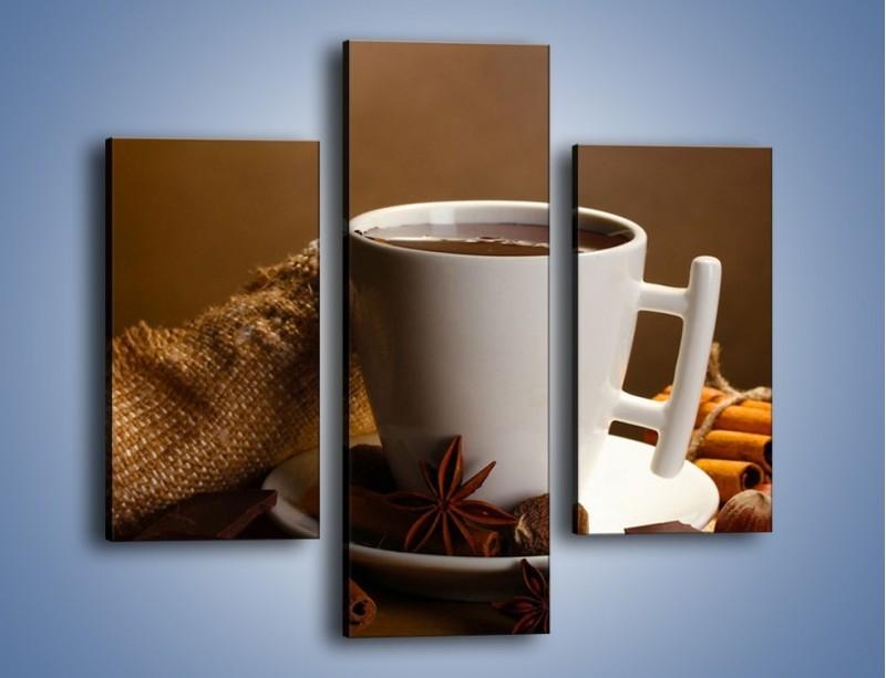 Obraz na płótnie – Gorąca czekolada z dodatkami – trzyczęściowy JN452W3
