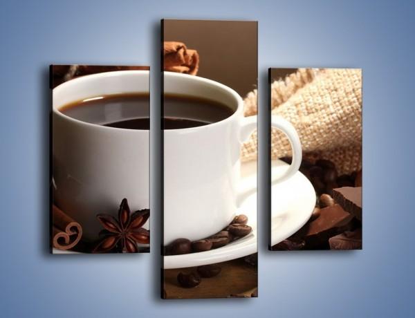 Obraz na płótnie – Kawa z dodatkiem czekolady – trzyczęściowy JN453W3