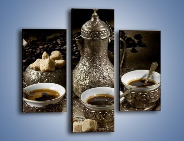 Obraz na płótnie – Tajemnicze opowieści przy kawie – trzyczęściowy JN455W3