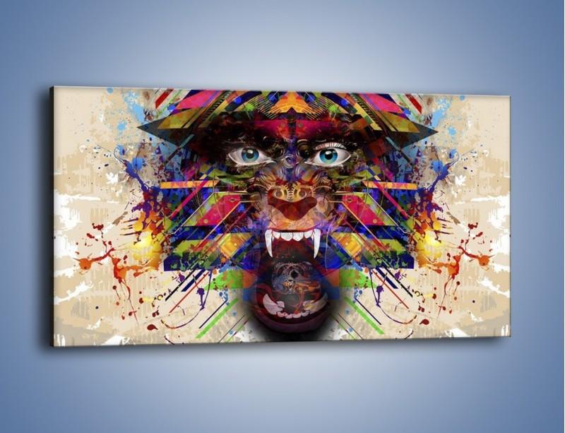 Obraz na płótnie – Groźny mimo kolorów – jednoczęściowy panoramiczny GR515