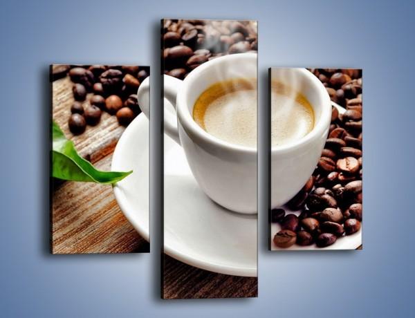 Obraz na płótnie – Letni błysk w filiżance kawy – trzyczęściowy JN470W3