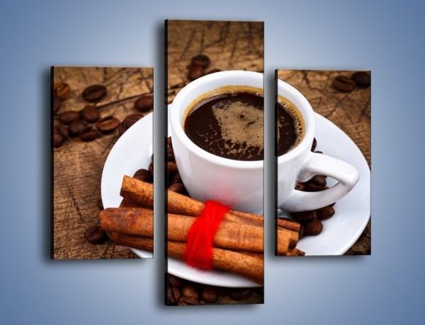Obraz na płótnie – Kawa z małą niewiadomą – trzyczęściowy JN471W3