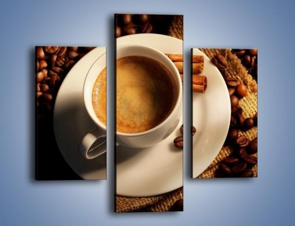 Obraz na płótnie – Tajemnicza historia z odrobiną kawy – trzyczęściowy JN475W3