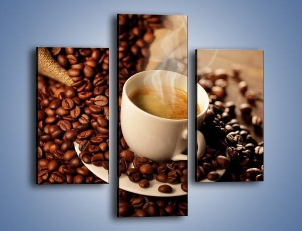 Obraz na płótnie – Zatopione ziarna kawy – trzyczęściowy JN477W3