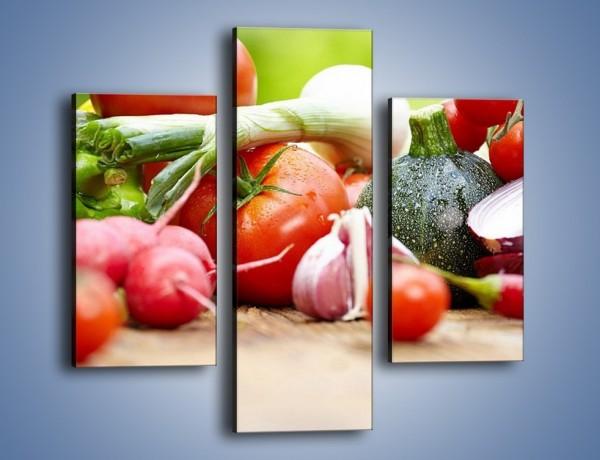 Obraz na płótnie – Warzywne kombinacje na stole – trzyczęściowy JN481W3
