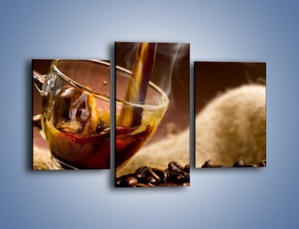 Obraz na płótnie – Kolejna filiżanka kawy – trzyczęściowy JN482W3