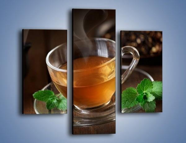 Obraz na płótnie – Mała filiżanka gorącej herbaty – trzyczęściowy JN493W3