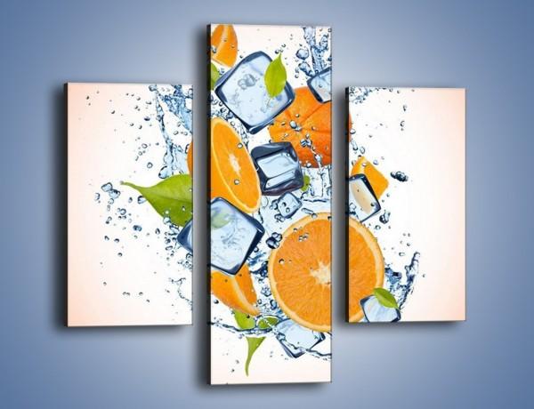 Obraz na płótnie – Pomarańczowe trio w powietrzu – trzyczęściowy JN499W3