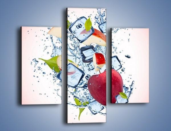Obraz na płótnie – Jabłkowe trio w powietrzu – trzyczęściowy JN500W3