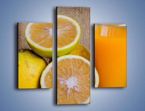 Obraz na płótnie – Świeża szklanka soku – trzyczęściowy JN504W3