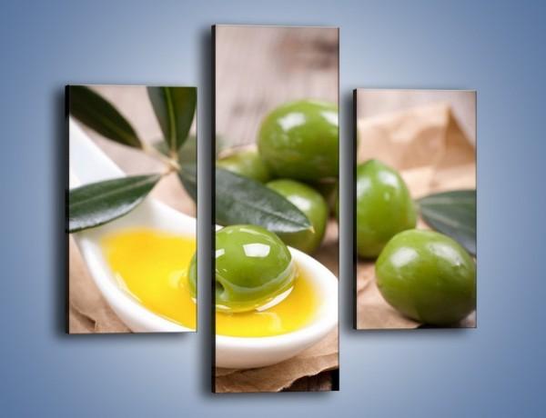 Obraz na płótnie – Zamoczone oliwki – trzyczęściowy JN511W3