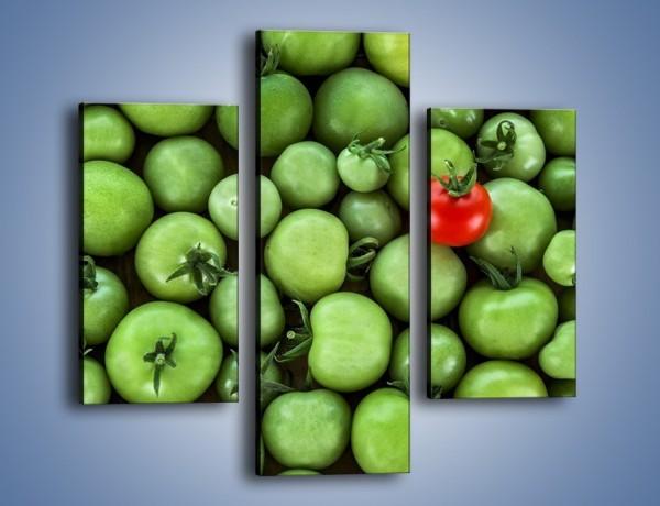 Obraz na płótnie – Prawie dojrzałe pomidory – trzyczęściowy JN517W3