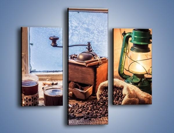 Obraz na płótnie – Mroźne wieczory przy kawie – trzyczęściowy JN531W3