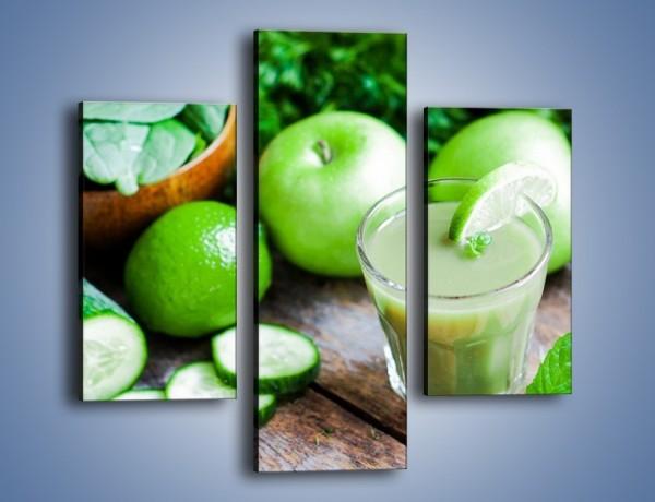 Obraz na płótnie – Koktail pełen zielonego zdrowia – trzyczęściowy JN545W3