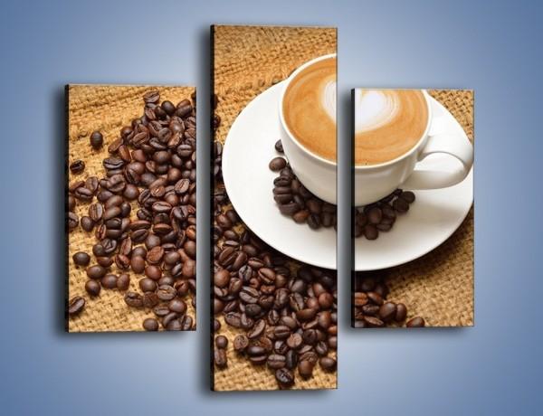 Obraz na płótnie – Uczucie wyrażone w kawie – trzyczęściowy JN547W3